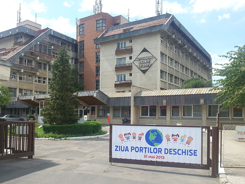 Banner the Children's Clinical Hospital in Brasov City