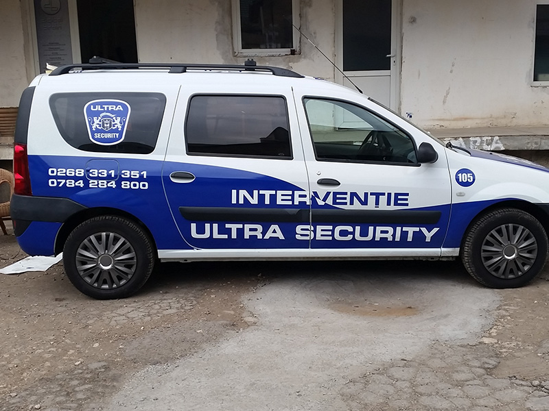 Sticker Decorare Mașină Ultra Security