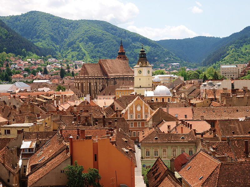 Outdoor photo Brasov City The old city centre